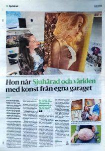 Rina interview in Boras Tidning newspaper